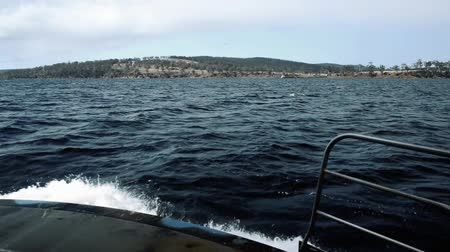 tasmania : View of Bruny Island waters in Tasmania, Australia during the day.
