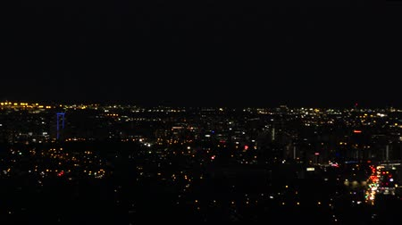 australian landscape : View of Brisbane City from Mount Coot-tha at night. Queensland, Australia.