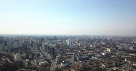 View of the city of Kiev from a birds eye view in spring