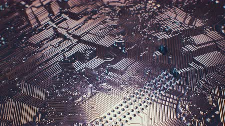 conector : Close up Technology background. Electronic circuit chip on PC board. Vídeos