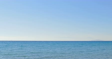 Panoramic sea view at summer sunny day. Sea landscape.