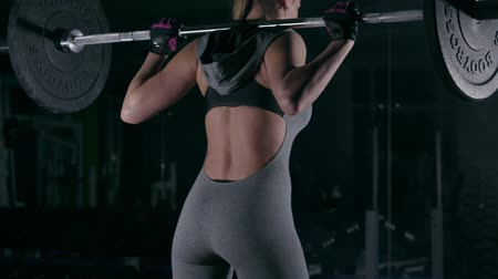 Sport woman doing weight lifting