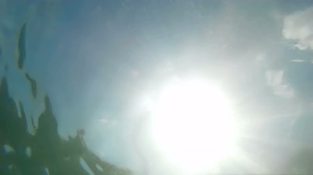 reflexão : The sun viewed through sea water Video clip