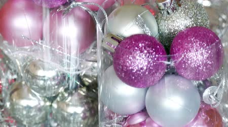 Beautiful ornaments for New Year decoration, 4 K Video Clip