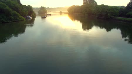 richmond : sunrise over river Thames