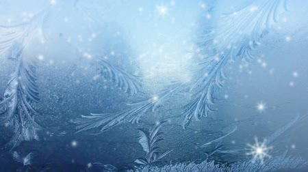 congelado : ice on frozen window texture with snowflakes for background or backdrop