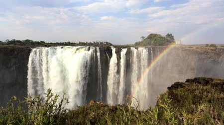 zambia : The Victoria Falls is the largest to the curtain of water in the world 1708 meters wide. The falls and the Surrounding area is the National Parks and World Heritage Site Zambia Zimbabwe