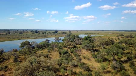 přirozeně : Aerial african landscape in Nambwa, Bwabwata is a national park located in north east Namibia on Caprivi Strip