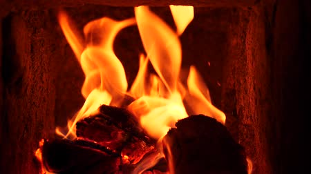 fireplace : Firewood Burning in slow motion