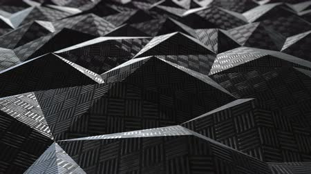 muster retro : Metallic Muster Textur abstrakte geometrische polygonale Hintergrund nahtlose Loop. 3D-Animation Videos
