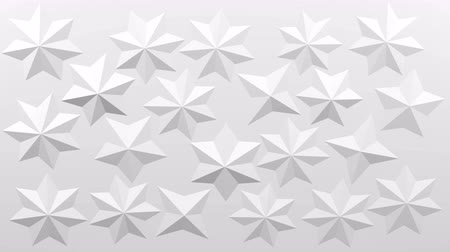 White polygonal geometric surface background - star shape on paper growth and move. 3D rendering.
