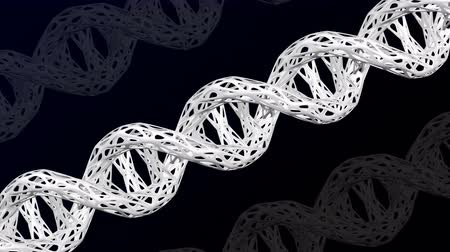 отцовство : White DNA molecule cellular structure. Loopable. Luma matte. 3D rendering.