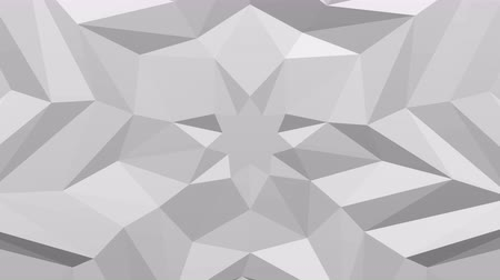 White polygonal geometric surface background - star shape on paper move. Loopable. 3D rendering.