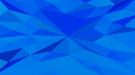 Low poly futuristic blue polygonal geometric surface background animation. Loopable. 3D rendering.