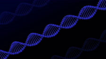 DNA molecule and turn around. Loopable Luma matte. 3D rendering.