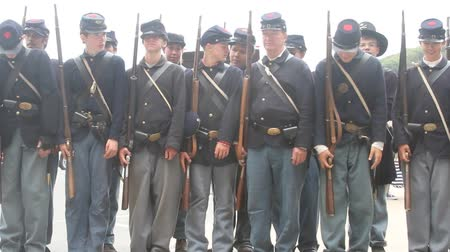 war : civil war renactment Stock Footage