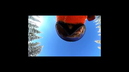 narciarz : Skier looking at camera Wideo