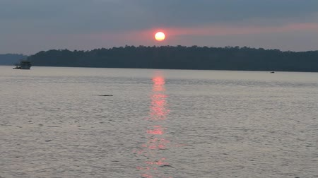 Бенгалия : Sunset over the Andamans Стоковые видеозаписи