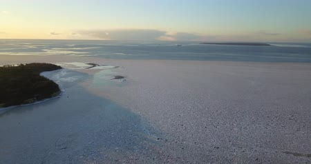 estonya : Aerial view of winter sea Stok Video