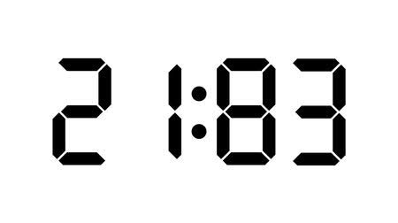 contagem regressiva : Digital clock count from zero to sixty full HD LCD display black numbers over a white background