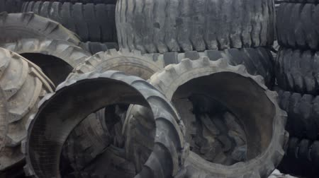 rakás : tire recycling plant Stock mozgókép