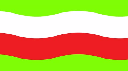 Flag of Poland on a green background