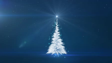 Christmas white tree. Winter background. Christmas background.