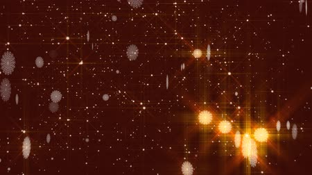 Dark red background with snow. Winter seamless background Stock Footage