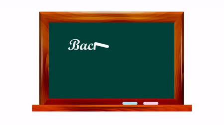 School dark green chalkboard on white background with the words Back to school !