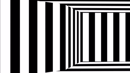 checked pattern : Motion of a striped black and white background in perspective