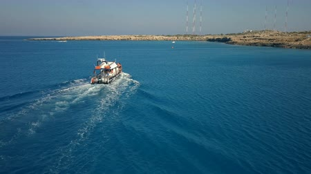 Pleasure Boat on Sea Waves