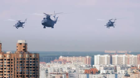 Helicopters over the city