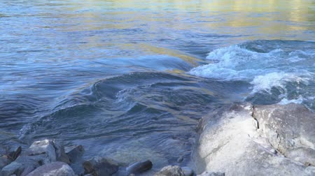 alce : Mountain river.Two videos in one. Slow-motion shot. Mountain Altai.
