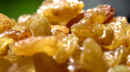 Australian sultana grapes raisins dried fruit, healthy diet snack alternative, circling. Stock Footage