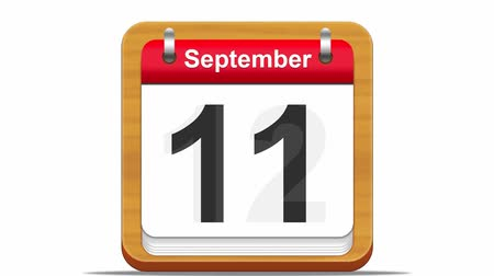 dagboek : September kalender. Stockvideo
