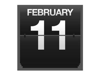 hó : February. Stock mozgókép