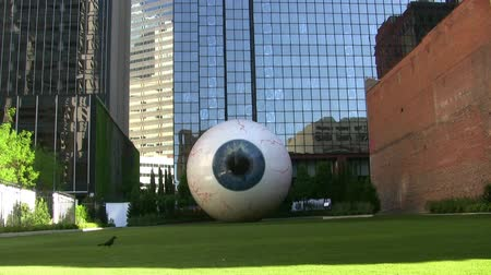 olho : Eye Sculpture In Downtown Dallas Texas