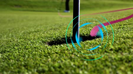 delikleri : the perfect golf putt - target mode Stok Video