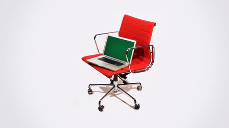 ügynökség : office chair with laptop , luma key