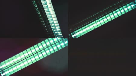 radiante : Fluorescent neon light tubes flickering when switching on and off - UHD compilation, 4x HD clips