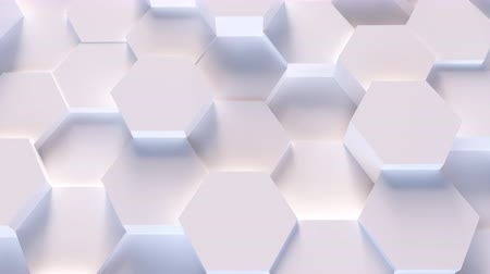 Mulit color technology hexagon hexagonal trend low poly pattern background - seamless loop 4K UHD