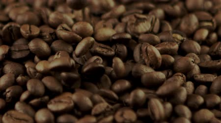 ristretto : coffee beans falling in slow motion