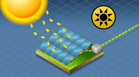 sluneční : solar panel in production of energy from the sun