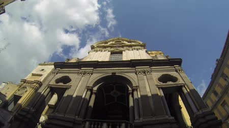 neapol : NAPLES, ITALY - CIRCA OCTOBER 2013: Cathedral of San Giuseppe dei Ruffi Wideo
