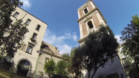 neapol : NAPLES, ITALY - CIRCA DECEMBER 2013: Bell Tower of Santa Chiara