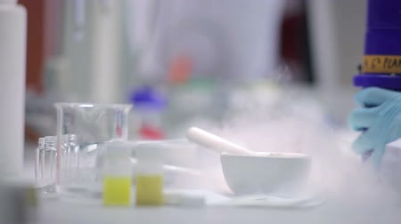 fialetta : Gli esperimenti in un laboratorio. HD Filmati Stock