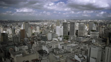 multikulturális : Time lapse of Sao Paulo buildings and light changes of the city. HD Stock mozgókép