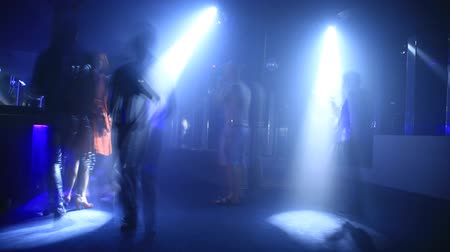 discotheque : Time lapse of a disco club. Stock Footage