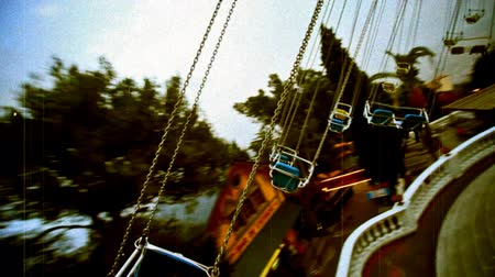 rolete : Flying swings chairs, old. Tibidabo, Barcelona-Spain.
