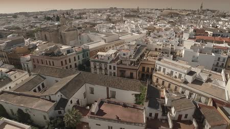 marrocos : Aerial zoom out of Spanish old town. Seville, Spain. HD